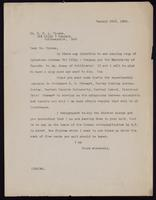 Letter to Dr. Clowes 23/01/1923