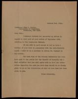 Letter to Professor John R. Murlin regarding a patent for an anti-diabetic agent 2/10/1922
