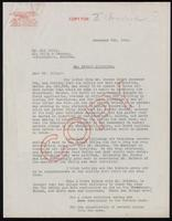 Letter to Eli Lilly regarding U.S. patent for insulin 8/12/1922