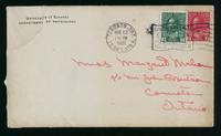 Letter to Margaret Mahon 11/8/1921