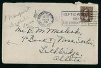 Letter to Bruce Macleod 29/12/1921
