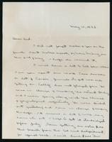 Letter to H.H. Best 10/05/1922