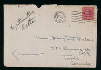Letter to Margaret Mahon 28/10/1923