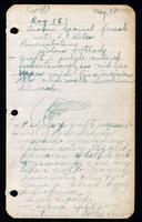 Notes dated May 17 from loose leaf notebook 1920/21