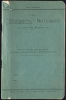 Jackson's lecture and laboratory note book and engineers', architects', and designers' sketch book, with notes dated May 21 through July 3, 1921