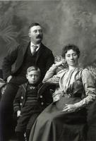 Photograph of J. B. Collip as a child with his parents ca. 1898
