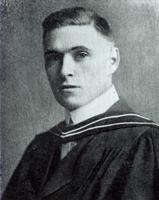 Photograph of J. B. Collip in academic hood 1916