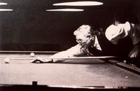 Photograph of J. B. Collip playing billiards ca. 1941
