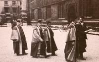Photograph of J. B. Collip in academic procession 1/07/1946