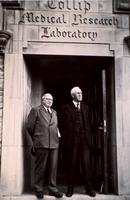Photograph of J. B. Collip with Sir Henry Dale 1947