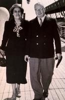 Photograph of Dr. and Mrs. J. B. Collip aboard the Empress of France 08/1949