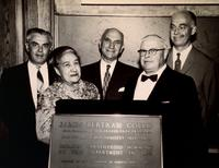 Photograph of Dr. and Mrs. J. B. Collip at the dedication of a plaque commemorating the isolation of the parathyroid hormone 12/06/1959