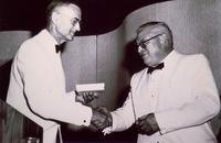Photograph of J. B. Collip receiving the Banting Medal 11/06/1960