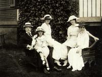 Photograph of the Charles Evans Hughes family  1916