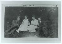 Photograph of Fred Banting, Edith Roach, Ella Knight, and Sam Graham 1915