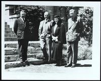 Photograph of J. B. Collip, C. H. Best, Mrs. F. N. G. Starr, and F. G. Banting