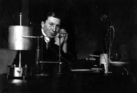 Photograph of F. G. Banting in his laboratory