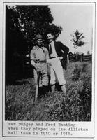 Photograph of Wes Dungey and Fred Banting ca. 1910