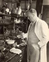 Photograph of C. H. Best in his laboratory, University of Toronto June 1948