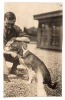 Photograph of Banting with dog ca. 04/1922