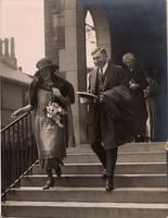 Photograph of F. G. Banting and Marion Robertson on their wedding day