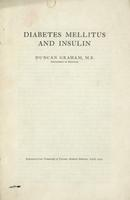 Diabetes mellitus and insulin