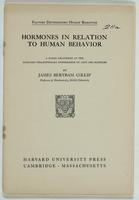 Hormones in relation to human behavior