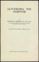 Glycosuria, the symptom
