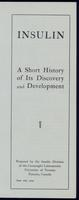 Insulin a short history of its discovery and development