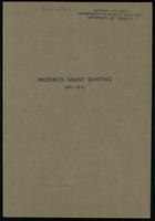 Frederick Grant Banting, 1891-1941