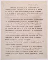 Memorandum in reference to the co-operation of the Connaught Antitoxin Laboratories