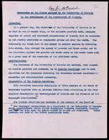 Memorandum on the course pursued by the University of Toronto in the development of the manufacture of insulin