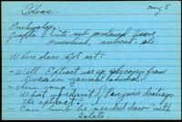 Note and idea cards 1922-1923